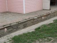 Подпорная стенка - на цементном растворе