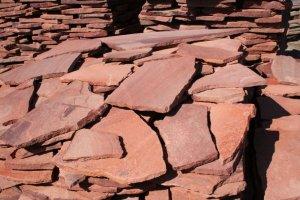 Плитняк (песчаник обоженный красный)